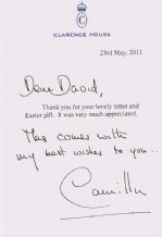 Duchess Of Cornwall Autograph Signed Letter - Camilla